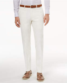 Bar III Men's Slim-Fit Stretch White Solid Suit Pants, Created for Macy's