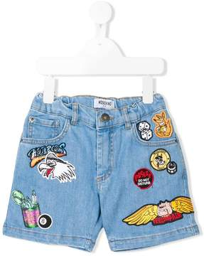 Moschino Kids applique shorts