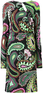 Emilio Pucci keyhole-front printed dress