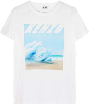 Kenzo Printed Cotton-jersey T-shirt - White