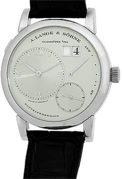 A. Lange & Söhne Lange 1 Platinum Strap Watch