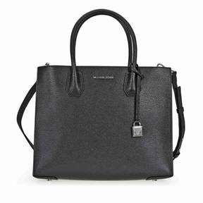 Michael Kors Mercer Large Bonded Leather Tote -Silver - ONE COLOR - STYLE