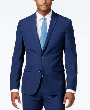 Bar III Men's Slim-Fit Blue Plaid Jacket, Created for Macy's