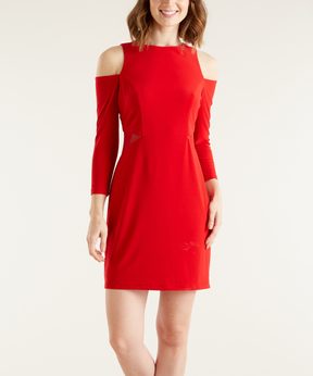Bebe Red Cutout Sheath Dress
