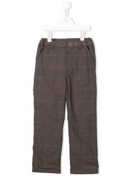 Familiar plaid straight leg trousers