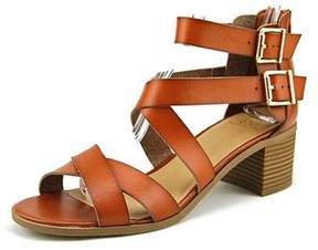 Material Girl Womens Danee Fabric Open Toe Casual Strappy Sandals.