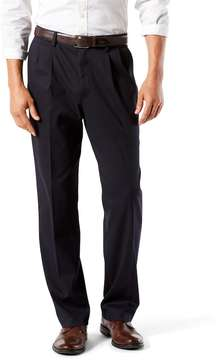 Dockers Men's Stretch Easy Khaki D3 Classic-Fit Pleated Pants