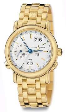 Ulysse Nardin Perpetual Silver Dial 18kt Yellow Gold Men's Watch