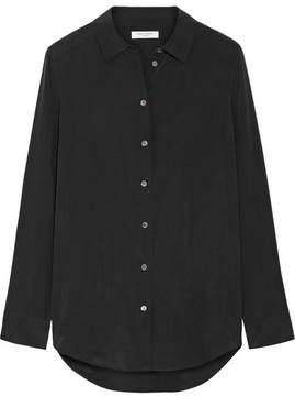 Equipment Essential Silk Crepe De Chine Shirt - Black