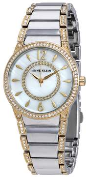 Anne Klein White Mother of Pearl Dial Two-tone Ladies Watch