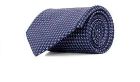 Salvatore Ferragamo Men's 0682496 Blue Silk Tie.