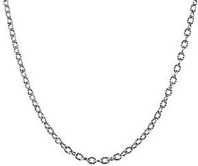 American West Sterling 17 Curb Link Chain Necklace