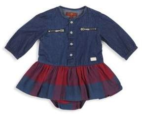 7 For All Mankind Baby Girl's Two-Piece Cotton Dress
