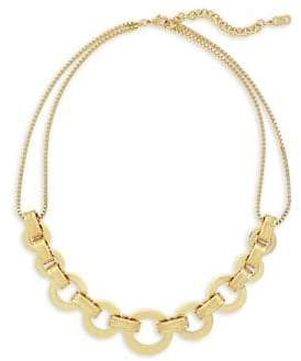 Cole Haan 7/25 Catseye on You Gold Statement Necklace