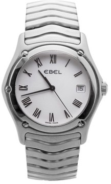 Ebel Classic Wave E9187F41 Swiss White Dial Stainless Steel Quartz 21mm Womens Watch