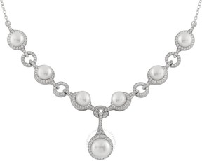 Bella Pearl Y-Shaped Sterling Silver Pearl Necklace