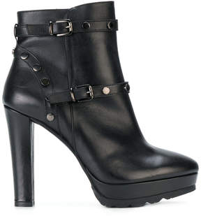 Albano buckled platform ankle boots