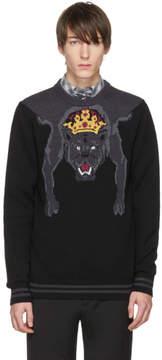Dolce & Gabbana Black Royal Panther Sweater