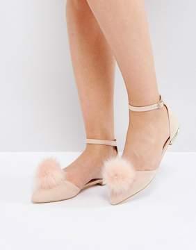 Miss KG Pom Pom Flat Shoes