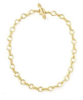 Elizabeth Locke Riviera Gold 19k Link Necklace, 17L