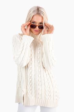 525 America Ivory Popcorn Sweater
