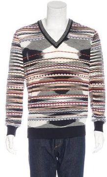 Missoni Abstract Embroidered Wool Sweater