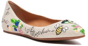Love Moschino Embossed Ballerina Flat