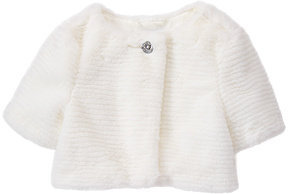 Gymboree White Faux Fur Shrug - Toddler & Girls