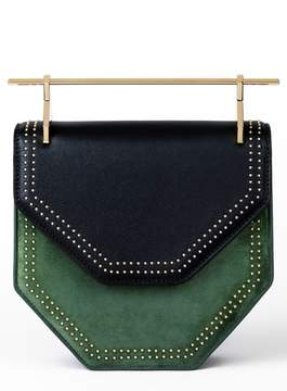 M2Malletier Mini Amor Fati Leather & Velvet Shoulder Bag