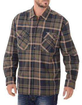 Dickies Men's Long Sleeve Twill Plaid Workshirt