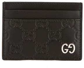 Gucci Black Signature Leather Card Case