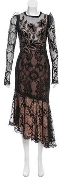 Andrew Gn Lace Embroidered Evening Dress w/ Tags