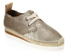 See by Chloe Gly Suede Lace-Up Espadrilles