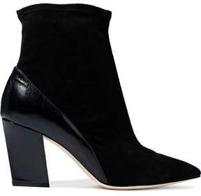 IRO Glossed-Leather And Suede Ankle Boots