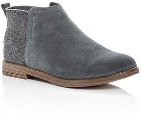 Toms Girls' Deia Suede & Wool Booties - Toddler, Little Kid, Big Kid