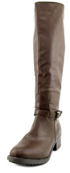 Rampage Imelda Women Round Toe Synthetic Brown Knee High Boot.