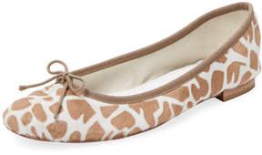 Repetto Women's Animal Print Leather Ballet Flat