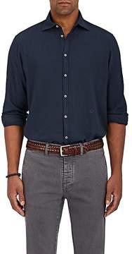 Massimo Alba Men's Spread-Collar Twill Shirt
