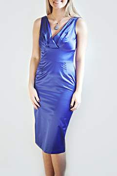 Stop Staring Blue Fitted Dress