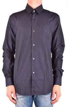 CNC Costume National Men's Mcbi074101o Blue Cotton Shirt.
