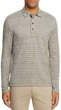 Billy Reid Smith Striped Long Sleeve Polo Shirt