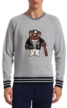 Ralph Lauren Purple Label Lux Fleece Varsity Bear Sweatshirt