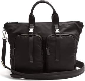 Prada Double pocket nylon holdall