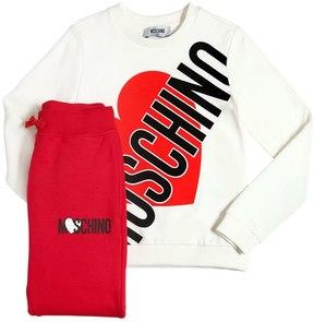 Moschino Heart Cotton Sweatshirt & Sweatpants