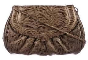 Stuart Weitzman Vintage Embossed Leather Shoulder Bag