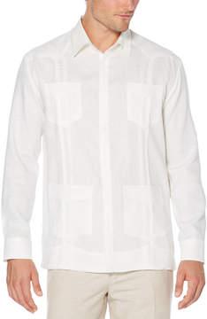 Cubavera Slim Fit 100% Linen Long Sleeve 4 Pocket Guayabera