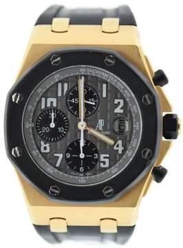 Audemars Piguet Royal Oak Offshore 26178OK.OO.D002CA.01 18K Rose Gold & Rubber 42mm Mens Watch