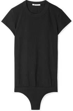Alexander Wang Stretch Cotton-jersey Thong Bodysuit - Black