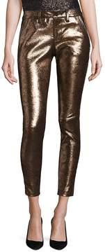 RtA Women's Lucy Metallic Leather Pants - Yellow, Size 26 (2-4)