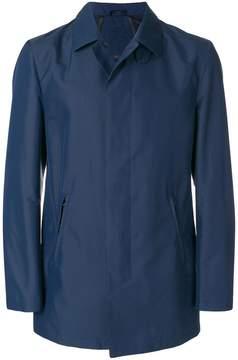 Corneliani concealed front trench coat